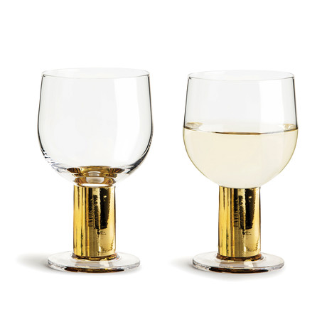 Club Gold All Purpose Glass // Set of 2