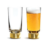 Club Gold Beer Glass // Set of 2
