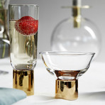 Club Gold Cocktail Glass // Set of 2