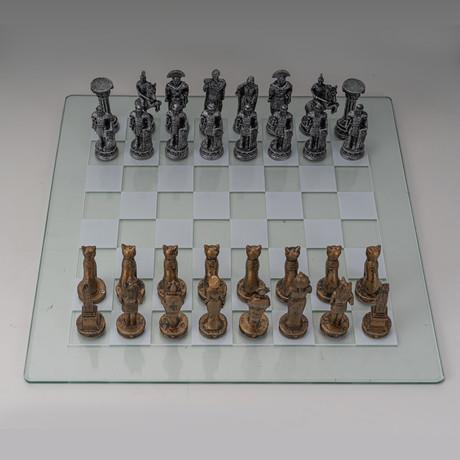 Egyptian Vs Roman Chess Set