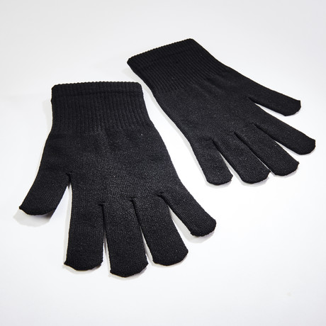 Antibacterial Copper Infused Gloves // Black // 2 Pairs (2 S/M Size Pairs)