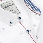 Anchor Print Sport Shirt // White (XL)
