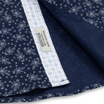 Floral Print Sport Shirt // Navy (S)