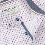 Fish + Dash Print Sport Shirt // White (L)