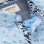 Reverse Garden Floral Print Sport Shirt // Blue (XL)