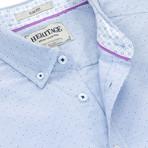 Dot Print Sport Shirt // Light Blue (XL)