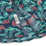 Floral Print Sport Shirt // Blue (XL)