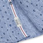 Nautical Print Sport Shirt // Chambray (2XL)