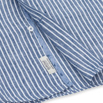Stripe Sport Shirt // Indigo (S)