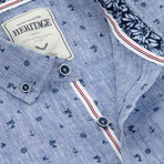 Nautical Print Sport Shirt // Chambray (M)