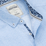 Floral Print Sport Shirt // Light Blue (M)