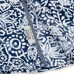 Aztec Print Sport Shirt // Navy (S)