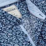 Leaf Print Sport Shirt // Blue (S)