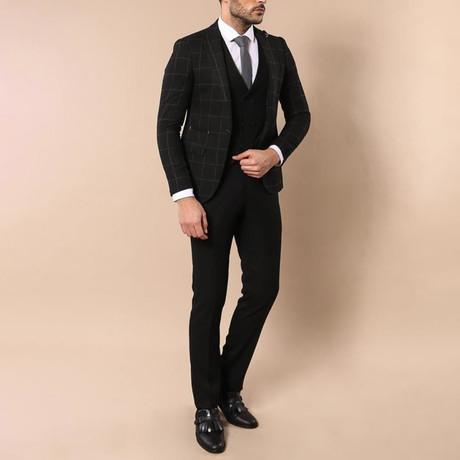 Jax 3-Piece Slim Fit Suit // Black (Euro: 44)