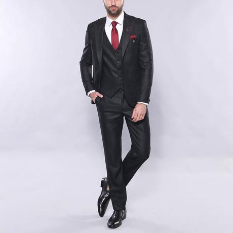 Hall 3-Piece Slim Fit Suit // Black (Euro: 44)