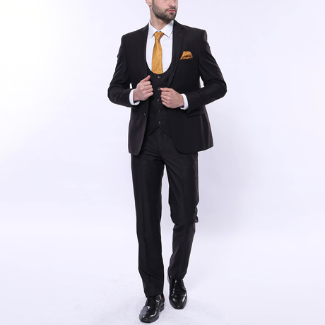 Alonso 3-Piece Slim Fit Suit // Brown (Euro: 44)