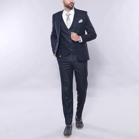 Miller 3-Piece Slim Fit Suit // Navy (Euro: 44)