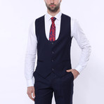 Bentito 3-Piece Slim Fit Suit // Navy (Euro: 44)