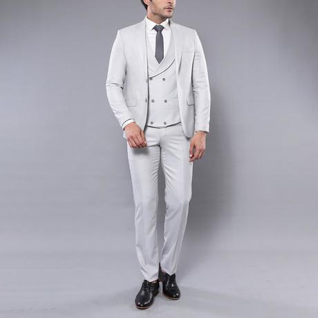Matteo 3-Piece Slim Fit Suit // Ivory (Euro: 44)