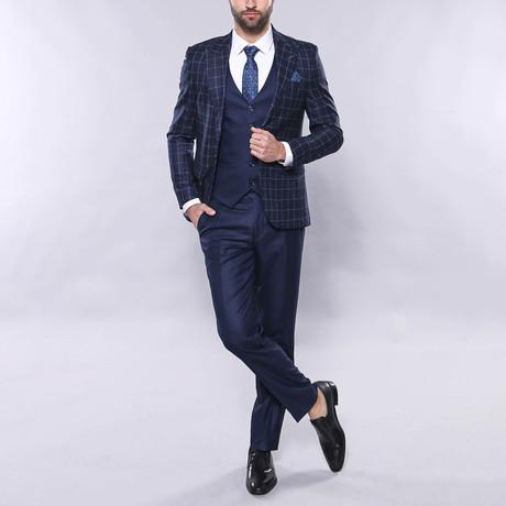Finn 3-Piece Slim Fit Suit // Navy (Euro: 44)
