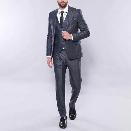 Tate 3-Piece Slim Fit Suit // Smoke (Euro: 44)