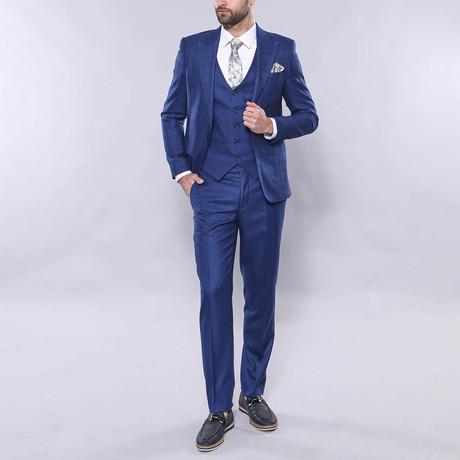 Spike 3-Piece Slim Fit Suit // Blue (Euro: 44)