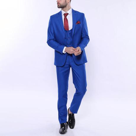 Leighton 3-Piece Slim Fit Suit // Blue (Euro: 44)