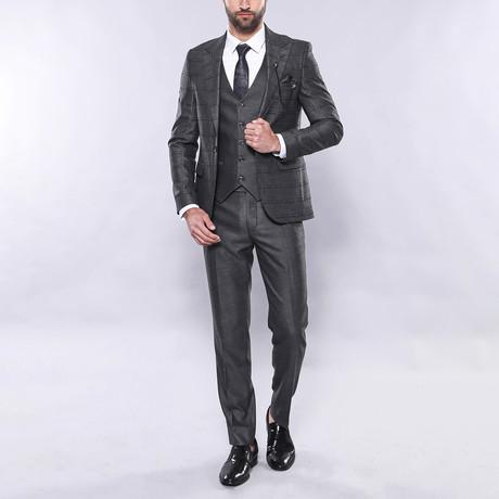 Tanner 3-Piece Slim Fit Suit // Smoke (Euro: 44)