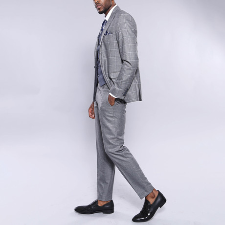 Charles 3-Piece Slim Fit Suit // Gray (Euro: 44)