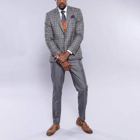 Hardy 3-Piece Slim Fit Suit // Smoke (Euro: 44)