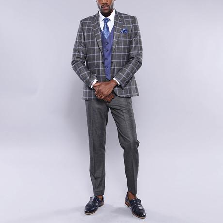 George 3-Piece Slim Fit Suit // Smoke (Euro: 44)