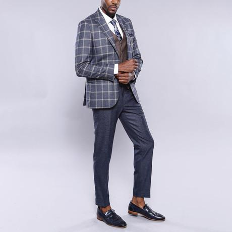 Foster 3-Piece Slim Fit Suit // Smoke (Euro: 44)