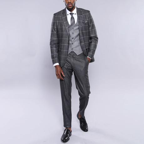Taft 3-Piece Slim Fit Suit // Smoke (Euro: 44)