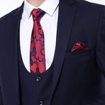 Bentito 3-Piece Slim Fit Suit // Navy (Euro: 54)