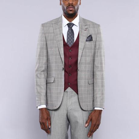 Remington 3-Piece Slim Fit Suit // Gray (Euro: 44)
