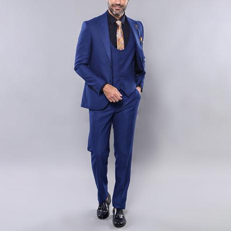 Barrett 3-Piece Slim Fit Suit // Indigo (Euro: 44)
