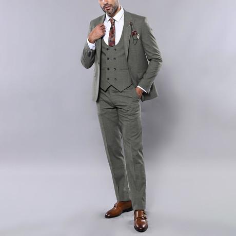 Lincoln 3-Piece Slim Fit Suit // Khaki (Euro: 44)