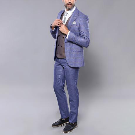 Blausie 3-Piece Slim Fit Suit // Blue (Euro: 44)