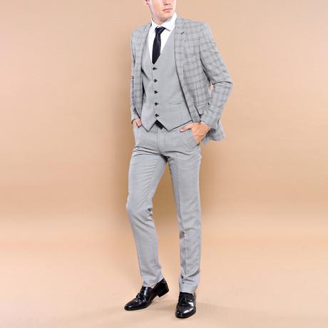 Augustus 3-Piece Slim Fit Suit // Gray (Euro: 44)