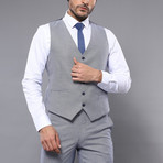 Parker 3-Piece Slim Fit Suit // Gray (Euro: 46)