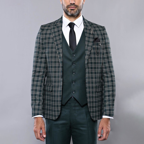 Sandy 3-Piece Slim Fit Suit // Green (Euro: 44)