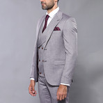 Jayson 3-Piece Slim Fit Suit // Smoke (Euro: 50)