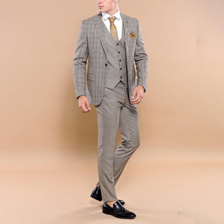 Jerimiah 3-Piece Slim Fit Suit // Mink (Euro: 44)