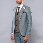 Zayden 3-Piece Slim Fit Suit // Green (Euro: 46)