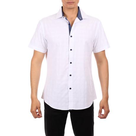 Derek Short Sleeve Button-Up Shirt // White (XS)