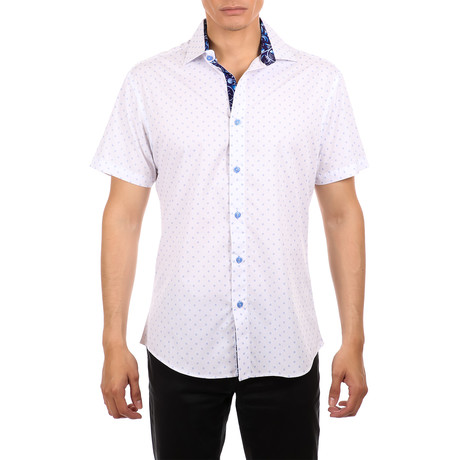 Max Short Sleeve Button-Up Shirt // White (XS)