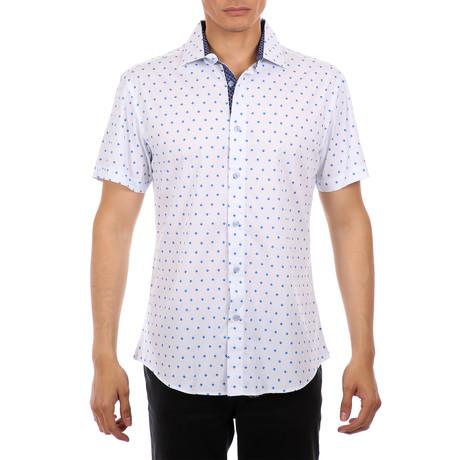 Cannon Short-Sleeve Button-Up Shirt // Blue (XS)