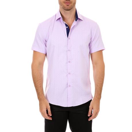 Wright Short Sleeve Button-Up Shirt // Pink (XS)