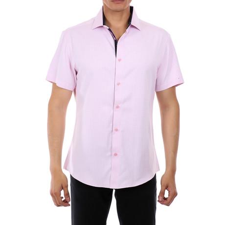 Marcus Short-Sleeve Button-Up Shirt // Pink (XS)