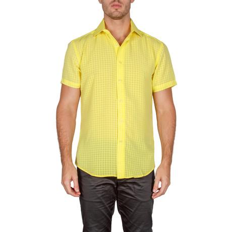 Fosco Short-Sleeve Button-Up Shirt // Yellow (XS)